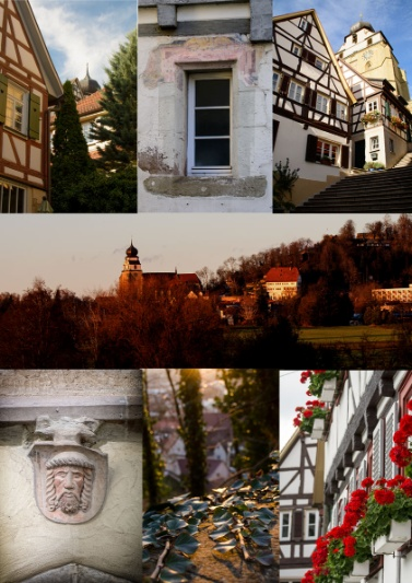 Collage mit Fotos aus Herrenberg